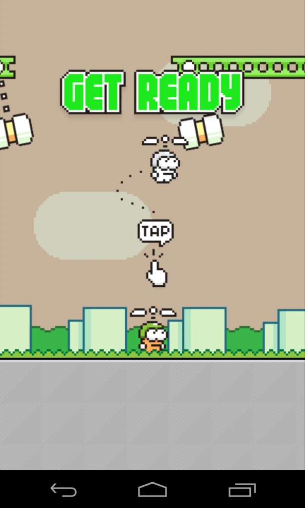Screenshot von Swing Copters